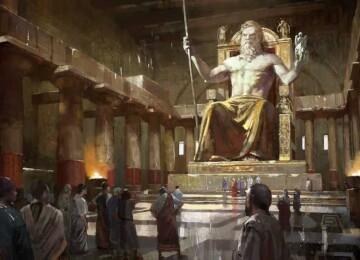 Из чего была сделана статуя Зевса Олимпийского