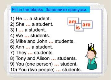 Глагол to be упражнения для детей