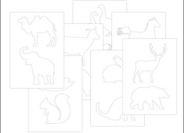 Трафареты животных: скачать, распечатать, вырезать