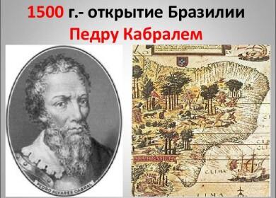 Кто из мореплавателей первым открыл Бразилию