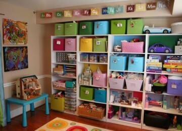 Идеи хранения игрушек в детской комнате